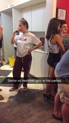 Senior VS Freshmen Girls at Frat Parties #funny #lol Click the photo to see more!