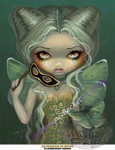 Anise /& Artemisia gothic Absinthe fairy art CANVAS PRINT Jasmine Becket-Griffith