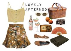 Lovely afternoon by ruvkaa on Polyvore featuring mode, Zimmermann, Mimi Loves Jimi, Elizabeth and James and Crate and Barrel