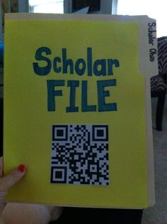 Student data tracking . This QR code will link to the student's data file in my Dropbox. Any administrator who comes in the room can scan it or students will be able to scan their own with my ipad during one on one conversations about their scores and data:-)