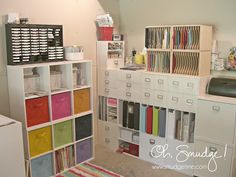 Great ideas for organizing and craft storage solutions at this website.