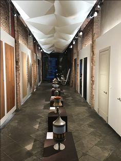 Listone Giordano at Barcelona Design Week (BDW17) at Interni showroom: Maioliche Deruta by Michele De Lucchi