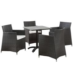 Modway Junction 5 Piece Dining Set With Cushions Finish: