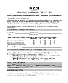 gym membership template