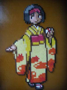 Kimono Girl Perler Beads by DarkTangrowth on deviantART