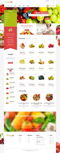 New Food Shop Responsive eCommerce Theme #webdesign #Magento download now➯ http://www.downloadnewthemes.com/2014/11/ves-harvest-shop-responsive-magento.html