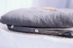 alder & co. - french grey linen duvet cover k