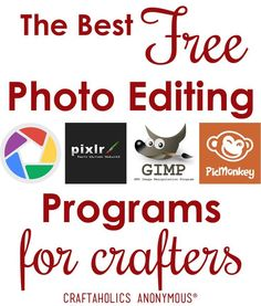 The Best Free Photo Editing Programs - Online Photo Editing - Online photo edit platform. - The best free photo editing programs for crafters Free Editing Apps, Good Photo Editing Apps, Online Photo Editing, Image Editing, Gimp Photo Editing, Best Photo Editing Software, Online Graphic Design, Graphic Design Tools, Free Photos