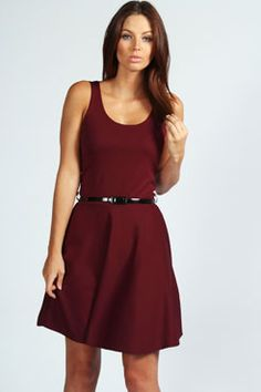 Maya Scoop Neck #Skater #Dress $24 Get 7% Cash Back http://www.studentrate.com/all/get-all-student-deals/Boohoo-com-Student-Discounts--/0