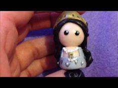 Polymer Clay Chibi Charms   Sherlock, Boleyn and Rapunzel Pen