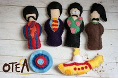 Yellow Submarine Magnets. A new activity for the kids and I to work on!! Picking up felt tommorow!