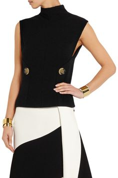 83d185dd616 Victoria Beckham - Stretch wool-blend turtleneck top