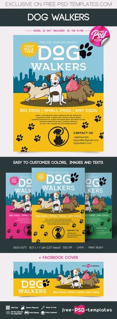 Get this Dog Walkers Flyer MockUp PSD Template to make presentations and create an advertisement for your clients in a professional way! It's fully layered and well organized Psd Templates, Flyer Template, Poster Templates, Business Templates, Big Dogs, Small Dogs, Dog Walker Flyer, Mississippi, Dog Walking Business