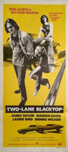 Two-Lane Blacktop 1971 rare original Australian daybill racing grindhouse movie poster. Available for purchase from our website.