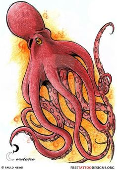 Check out this art gallery with 66 awesome octopus tattoos. An octopus tattoo can be an original choice of design, learn more about its meaning here. Small Octopus Tattoo, Skull Butterfly Tattoo, Octopus Tattoo Sleeve, Octopus Tattoo Design, Tattoo Designs, Octopus Tattoos, Tattoo Ideas, Red Octopus, Tattoo Blog