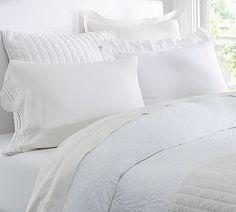 Crisp white bedding...my favourite.