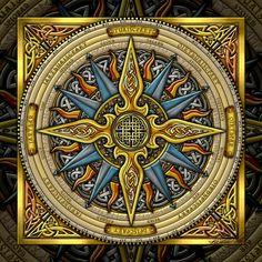 Celtic Compass Mandala -- Artist: Kristen Fox Image from http://www.imagekind.com/