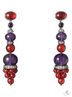 Cartier's Étourdissant collection ends on a high |  Cartier Étourdissant amethyst and opal earrings