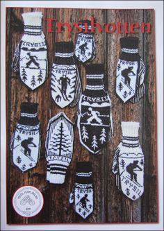 Mittens with skiers