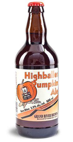 Highballer Pumpkin Ale - Grand River Brewing, Cambridge