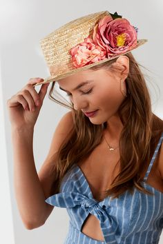 Bouquet Short Brim Boater Hat | Urban Outfitters
