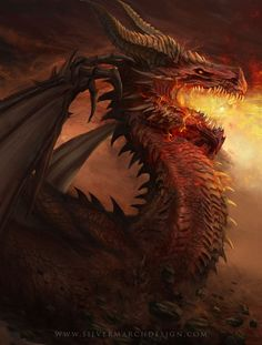 Firkraag Red Dragon from Baldur's Gate 2 preview by luffie on DeviantArt