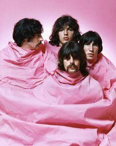 Nick Mason, David Gilmour, Richard Wright, Roger Waters (de izq. a Der.)