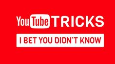 YouTube Tricks: Today we're with amazing YouTube Tricks and Hacks that you should Know. These YouTube tricks will increase your productivity.