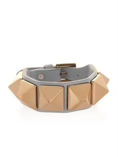 Valentino - Rockstud leather bracelet - $295