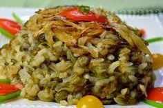 Mjadra éuma maravilhosa receita da culinária árabe. Muito fácil de preparar, uma refeição completa e rica em proteínas. Presença consta...