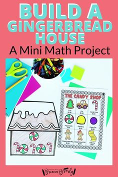 Are you looking for a fun. standards-based math project for your 2nd grade students to complete this holiday season? This gingerbread math activity is the perfect mini math project to use in the classroom during Christmas or through the Winter season. This project reviews money, addition, and place value skills. Students will shop from a menu to purchase pieces they need to decorate a paper gingerbread house.