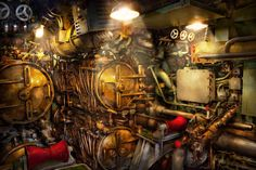 steampunk--naval--the-torpedo-room-mike-savad.jpg (JPEG Image…