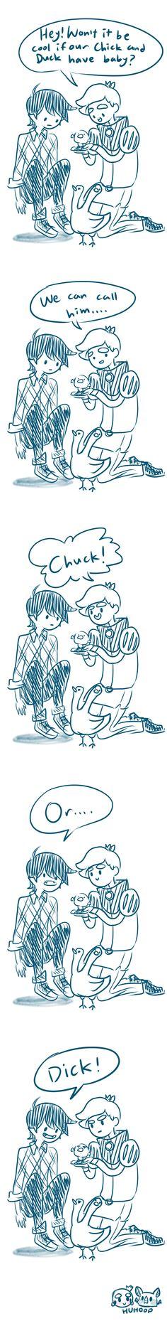 Chick and Duck by Huhoop.deviantart.com on @deviantART