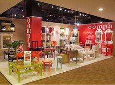 Their booth at High Point was a fabulous explosion of color with luscious lacquers all around. via @quintessenceblg at #HPmkt