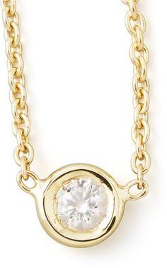 Roberto Coin 18k Yellow Gold Single Diamond Necklace on shopstyle.com