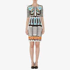 Robe motifs multicolores mary katrantzou : robes manches courtes mary katrantzou - le bon marché rive gauche