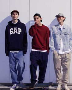 90s Fashion, Korean Fashion, Fashion Outfits, Mode Streetwear, Streetwear Fashion, Mode Man, Skate Style, Herren Outfit, Mode Outfits