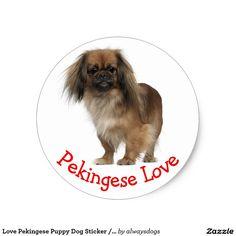 Love Pekingese Puppy Dog Sticker / Seal