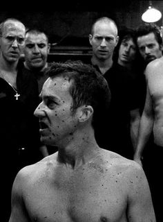 """Fight Club"" finds Edward Norton taking us all down for the count. Fight Club 1999, Fight Club Rules, Edward Norton, David Fincher, Brad Pitt, Morgana Le Fay, Marla Singer, 1990s Films, Tyler Durden"
