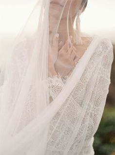 Silk Tulle Bridal Veil & Lace Wedding Gown**** Natural and Beautiful Boudoir Photos Wedding Lingerie, Wedding Veils, Lace Wedding, Wedding Dresses, Rustic Wedding, Wedding Hair, Wedding Shot, Wedding Bride, Bridal Shoot