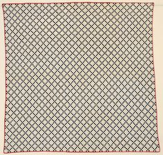 "Postage Stamp Nine Patch Quilt: Circa 1890: Pa.; each square 3/8"" finished."