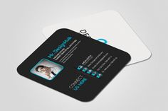 Mini Social Business Card Template by Business Flyers on @creativemarket