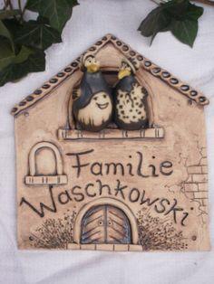 keramik t rschild blumenwiese wetterfestes namensschild individuell wohnen farbenfroh. Black Bedroom Furniture Sets. Home Design Ideas