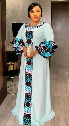 Trendy ad beautiful kaftan – My World Long African Dresses, Latest African Fashion Dresses, African Print Dresses, African Print Fashion, Ankara Fashion, Ankara Mode, Ankara Stil, Ankara Dress Styles, African Traditional Dresses