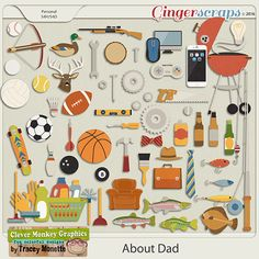 GingerScraps :: Kits :: About Dad Mega Kit by Clever Monkey Graphics