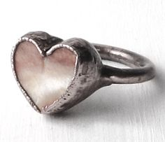 ☮ American Hippie Bohéme Boho Style Jewelry ☮ Heart Ring