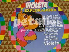 Invitaciones para cumpleaños Dora la Exploradora