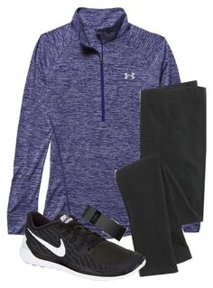 """""""This is bad"""" by hgw8503 ❤ liked on Polyvore featuring Under Armour, Madewell, NIKE and Fitbit"""