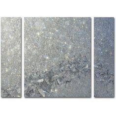 Kurt Shaffer Frost Pattern Sun Stars Multi Panel Art Set, Size: Small, White