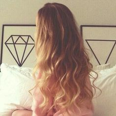 My blond hair.